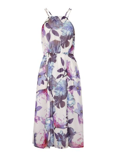 Uttam Boutique Cherry blossom print spaghetti strap dress