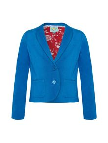Girls cotton twill blazer