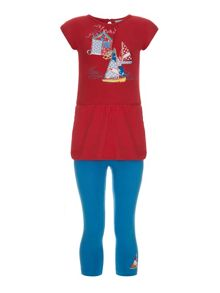 Uttam Girls boat tunic with leggings set