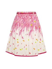 Girls wisteria print skirt