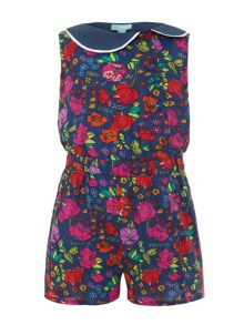 Girls floral garden playsuit