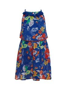 Girls tropical floral dress