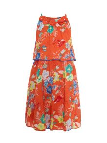 Uttam Girls tropical floral dress