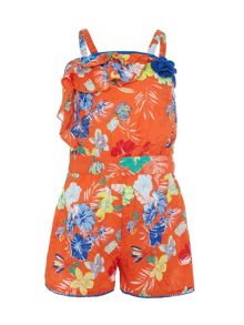 Uttam Girls tropical print playsuit
