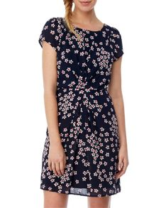 Yumi Floral Drape Dress