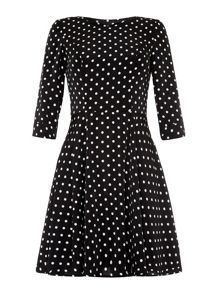 Spotty Sleeve Dress