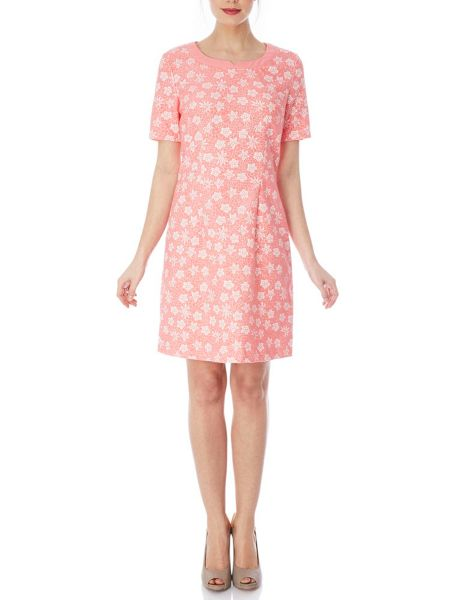 Yumi Floral Jacquard Dress