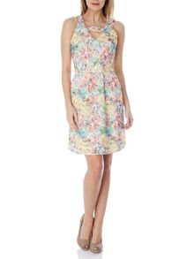 T-Bar Printed Lace Dress