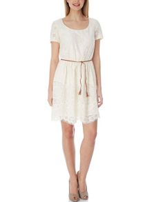 Yumi Textured Lace Dress