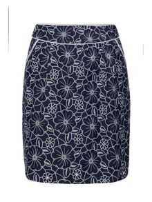 Chambray Floral Skirt