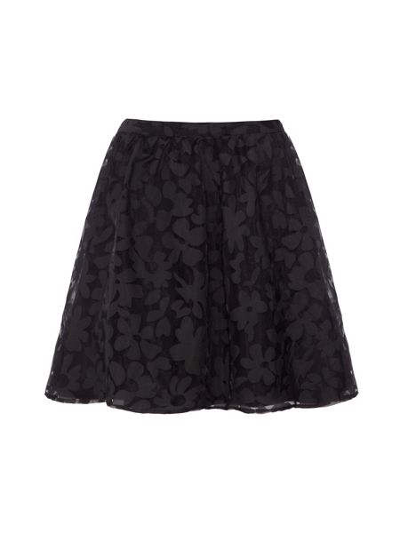 Yumi Floral Burn-Out Skirt