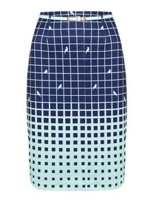 Bird and Grid Skirt