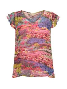 Yumi Meadow Print Top