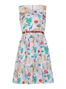 Yumi Flora and Fauna Postcard Dress