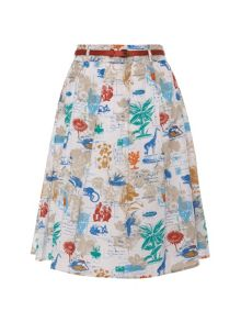 Yumi Flora and fauna postcard skirt