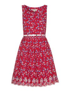 Yumi Dotty Floral Printed Dress