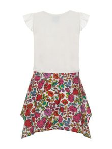 Girls Flower Dress With Embroidery