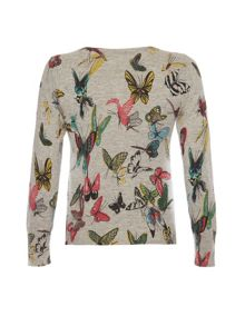 Watercolour butterfly cardigan