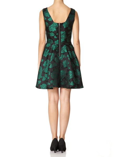 Mela London Brocade Rose Dress