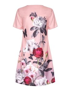 Orchid jardin print shift dress