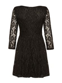 Mela London Pleated Lace Dress
