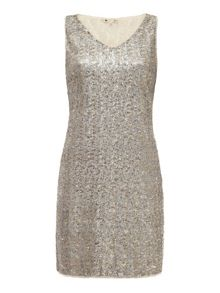 Sleeveless Sequin Dress