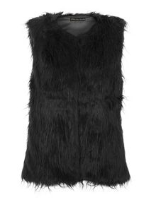 Fancy faux fur gilet
