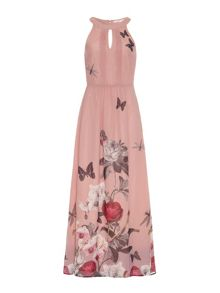 Orchid Jardin Print Maxi Dress