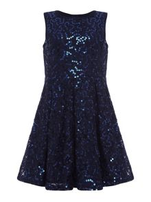 Girls majestic sequin dress