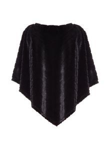 Draped Fur Poncho