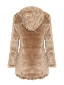 Mela London Hooded faux fur coat