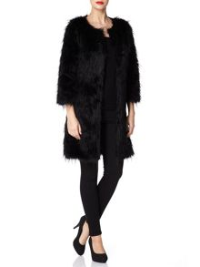 Mela Loves London Long Fur Jacket