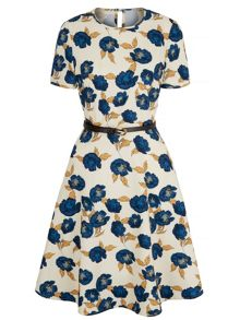 Uttam Boutique Asakura Floral Print Tea Dress