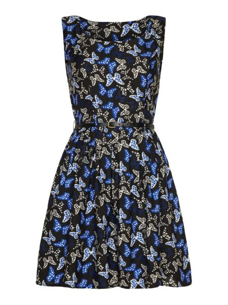 Mela London Butterfly Fit and Flare Dress