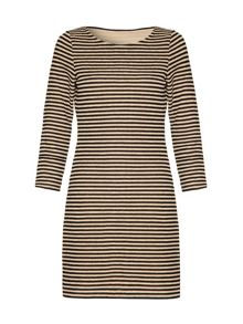 Mela Loves London Striped bodycon dress
