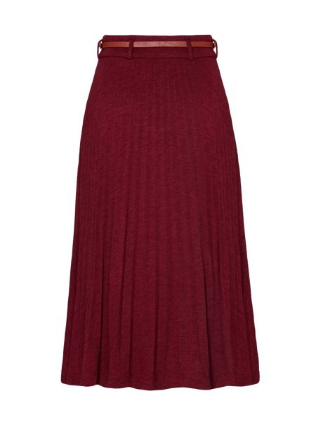 yumi pleated jersey midi skirt house of fraser