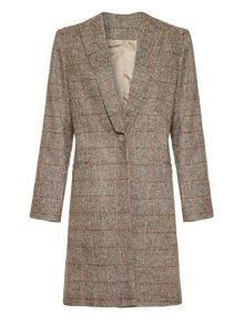 The classic checked coat
