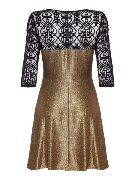 Mela London Lace lamé dress