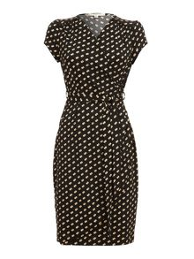 Double Spotty Wrap Dress