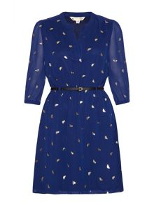 Yumi Gold bird dress