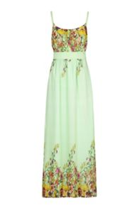 Floral Butterfly Print Maxi Dress