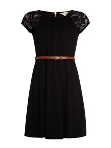 Lace Dress With Pleat Front