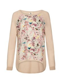 Eastern Bird Print Jumper
