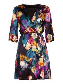 Floral printed day dress