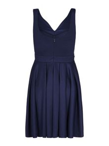 Mela Loves London Belted v-neck dress