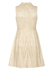 Yumi Sleeveless Collar Lace Dress