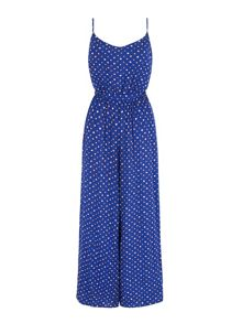 Yumi Dotty Flared Jumpsuit