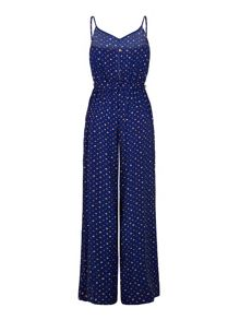 Dotty Flared Jumpsuit
