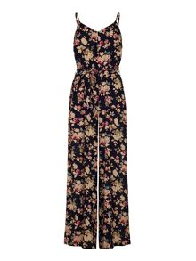 Floral Print Strappy Jumpsuit