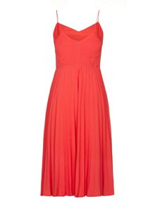 Pleated Strappy Dress
